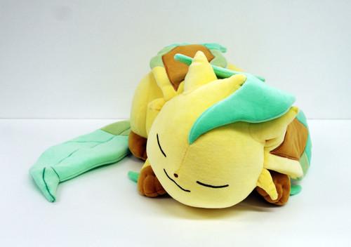Pokemon Center Original Plush Doll Sleeping Leafeon (Leafia) 826-221090