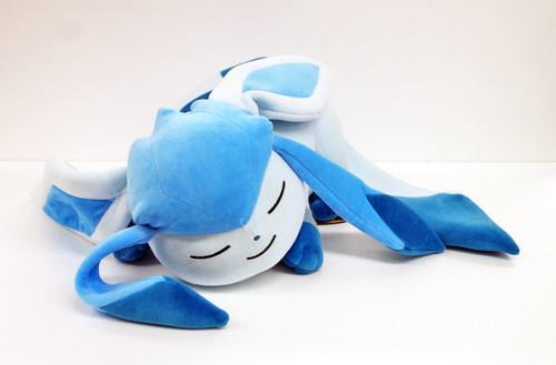 Pokemon Center Original Plush Doll Sleeping Glaceon (Glacia) 826-221106