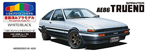 Aoshima 53140 SP Toyota AE86 Trueno Sprinter 1983 White/Black 1/24 Pre-painted Model kit