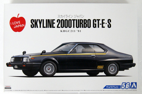 Aoshima 54338 The Model Car 56 NISSAN KHGC211 SKYLINE HT2000TURBO 1/24 scale kit