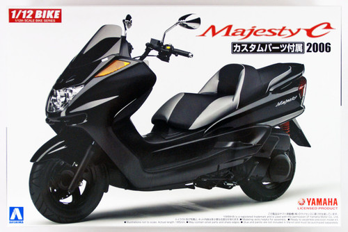 Aoshima 54413 Bike 49 YAMAHA MAJESTY C with CUSTOM PARTS 1/12 Scale Kit