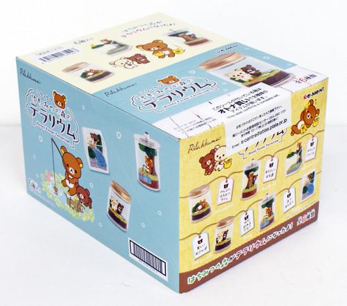 "Re-ment 171227 ""Rilakkuma Honey Forest Terrarium "" 6 Figure Complete set"