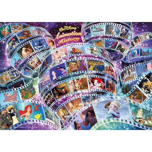 Tenyo Japan Jigsaw Puzzle D-300-002 Disney Animation History (300 Pieces)
