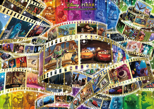 Tenyo Japan Jigsaw Puzzle D-300-003 Disney Pixar Animation History (300 Pieces)