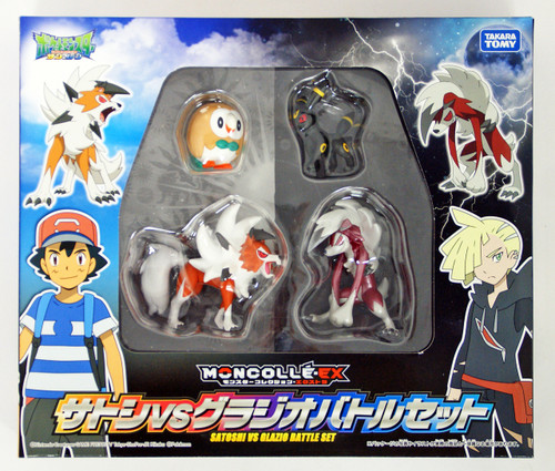 Takara Tomy Pokemon Moncolle Monster Collection Ash VS Gladion Battle Set 976110