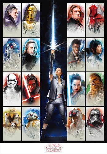 Tenyo Japan Jigsaw Puzzle W-1000-667 Star Wars The Last Jedi (1000 Pieces)