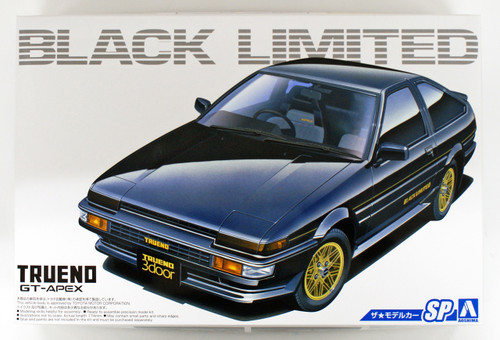 Aoshima 54819 The Model Car SP Toyota AE86 Sprinter Trueno/GT-Apex Black Limited '86  1/24 scale kit