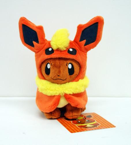 Pokemon Center Original Plush Doll Eevee Poncho Flareon (Booster) 1007- 22827