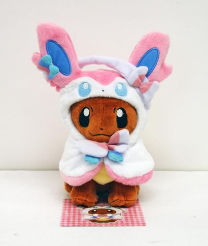 Pokemon Center Original Plush Doll Eevee Poncho Sylveon (Nymphia) 1007-228327
