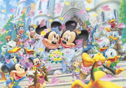 Tenyo Japan Jigsaw Puzzle D-108-994 Disney Mickey Mouse Wedding (108 Pieces)