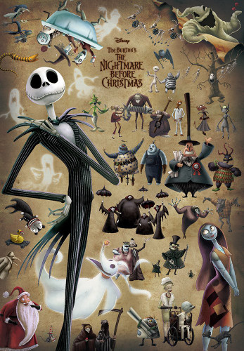 Tenyo Japan Jigsaw Puzzle D-1000-472 Disney The Nightmare Before Christmas Jack (1000 Pieces)