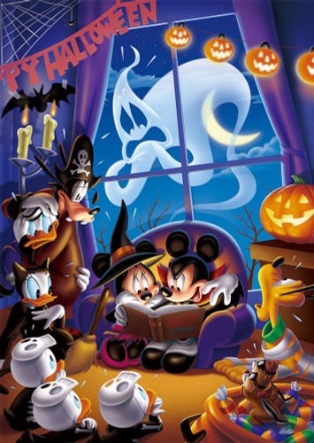 Tenyo Japan Jigsaw Puzzle D-300-004 Disney Halloween Haunted Party (300 Pieces)