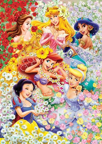 Tenyo Japan Jigsaw Puzzle D-300-203 Disney Princess (300 Pieces)