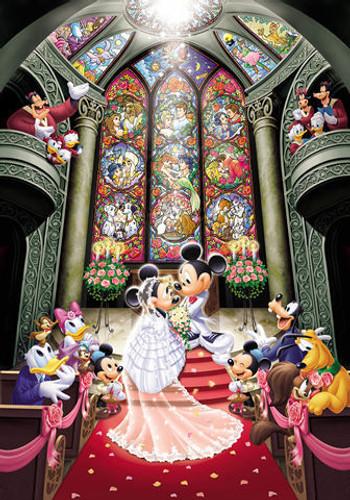 Tenyo Japan Jigsaw Puzzle D-500-356 Disney Mickey Mouse Wedding (500 Pieces)