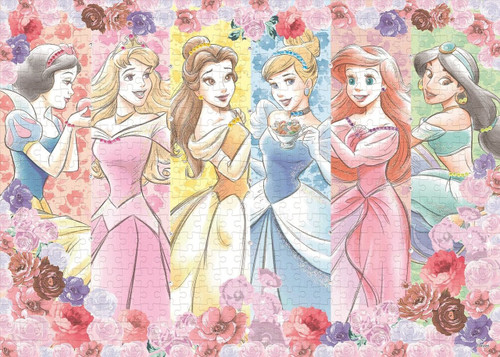 Epoch Jigsaw Puzzle Decoration 74-001 Disney Princess Flower Blossom (500 Pieces)