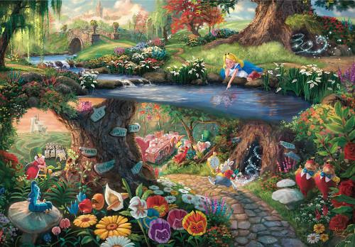 Tenyo Japan Jigsaw Puzzle D-1000-490 Disney Alice in Wonderland (1000 Pieces)