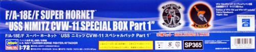 "Hasegawa SP365 F/A-18E/F Super Hornet Super Hornet ""USS Nimitz CVW-11 Special BOX Part 1"" 1/72 scale kit"