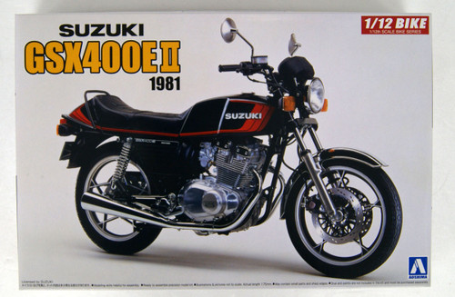 Aoshima 54574 Bike 52 Suzuki GSX400E II 1/12 scale kit