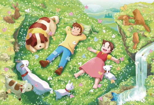 Beverly Jigsaw Puzzle 93-127 Heidi Girl of the Alps (300 Pieces)