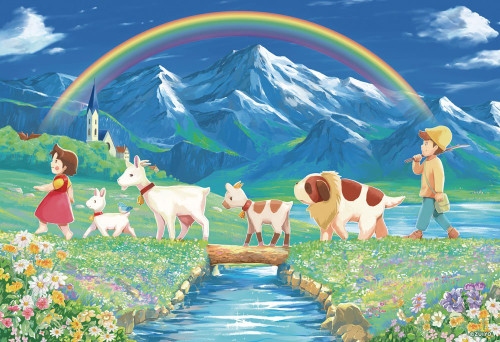 Beverly Jigsaw Puzzle 93-126 Heidi Girl of the Alps (300 Pieces)