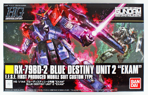 Bandai HGUC 208 Gundam BLUE DESTINY UNIT 2 'EXAM' 1/144 Scale Kit