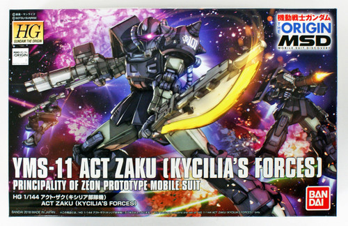Bandai Gundam The Origin 020 Act Zaku (Kycilia's Forces) 1/144 Scale Kit