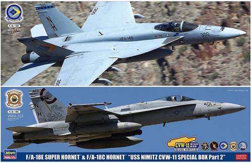 "Hasegawa SP367 F/A-18E Super Hornet & F/A-18C Hornet ""USS Nimitz CVW-11 Special Box Pt. 2"" 1/72 scale kit"