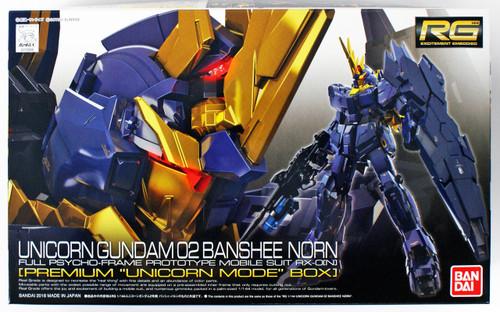 Bandai RG-27 Unicorn Gundam 02 Banshee Norn (Premium Unicorn Mode Box) 1/144 Scale Kit 258889