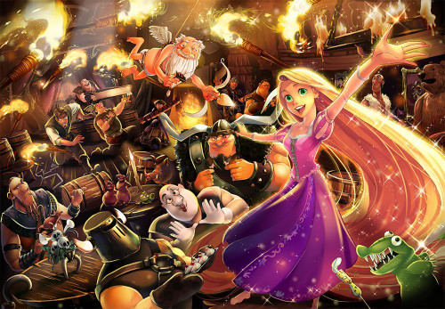 Tenyo Japan Jigsaw Puzzle D-1000-494 Disney Tangled Rapunzel (1000 Pieces)