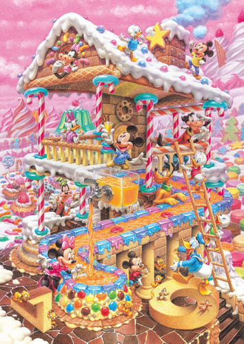 Tenyo Japan Pure White Jigsaw Puzzle DPG-266-574 Disney Candy House (266 Pieces)