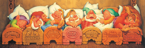 Tenyo Japan Jigsaw Puzzle DG-456-735 Disney Seven Dwarfs (456 Small Pieces)