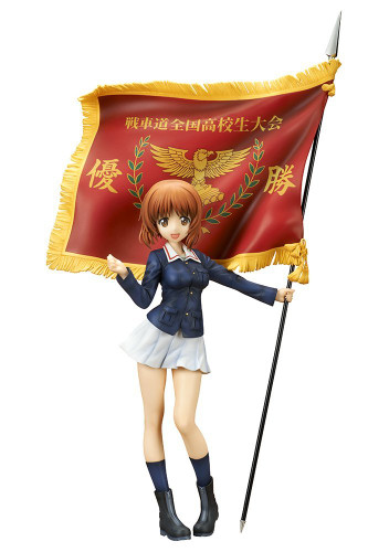 quesQ Nishizumi Miho Senshado National High School Tournament Winner's Flag 1/7 Scale Figure (Girls und Panzer der Film)