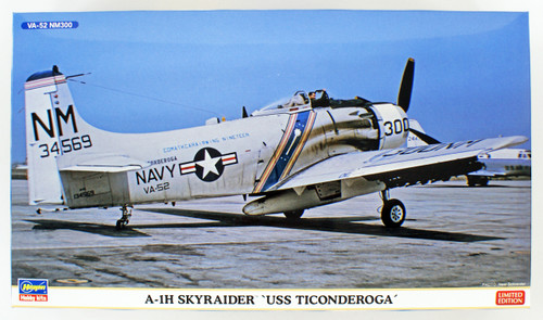 Hasegawa 02262 A-1H Skyraider USS Ticonderora 1/72 scale kit
