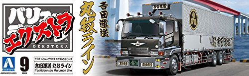 Aoshima 55595 Japanese Decoration Truck Extra Yoshida Unso Marumon Line 1/32 scale kit
