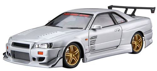 Aoshima 55427 C-WEST BNR34 Skyline GT-R 2002 1/24 scale kit