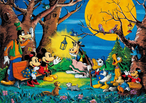 Tenyo Japan Jigsaw Puzzle D-108-812 Disney Mickey's Saturday Night (108 Pieces)