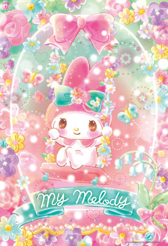 Beverly Jigsaw Puzzle 33-141 My Melody Flower Floralium (300 Pieces)