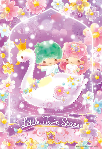 Beverly Jigsaw Puzzle 33-142 Little Twin Stars Kiki & Lala Flower Floralium (300 Pieces)
