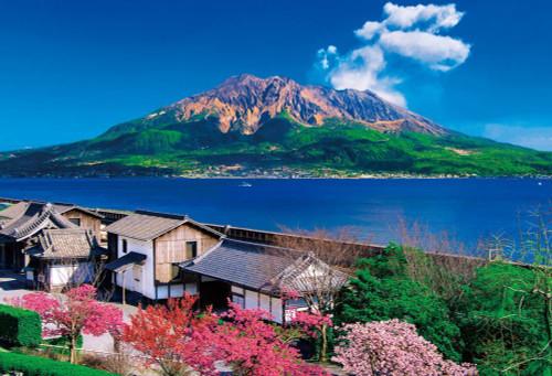 Beverly Jigsaw Puzzle 51-237 Sakurajima Sengan-en Kagoshima Japan (1000 Pieces)