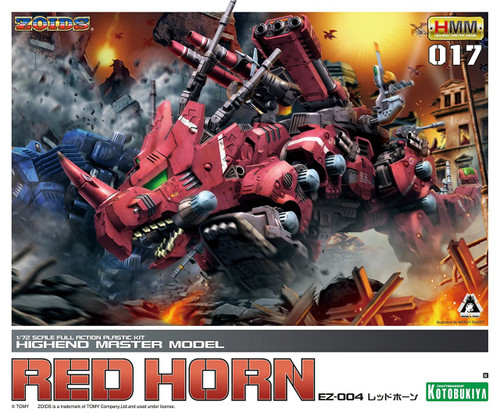 Kotobukiya ZD030 Zoids EZ-004 Red Horn 1/72 Scale Model Kit