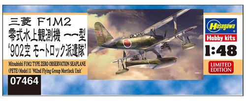 Hasegawa 07464 IJN Mitsubishi F1M2 Type Zero Observation Seaplane Type 11 902 Mortlock Detachment 1/48 scale kit