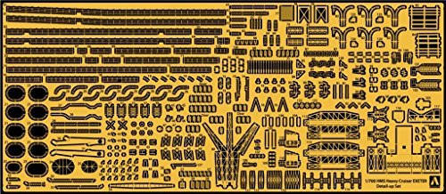 Aoshima Waterline 52716 Photo-etched Parts set for HMS Exeter 1/700 scale kit