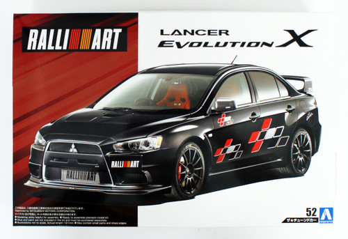 Aoshima 55441 Mitsubishi Ralliart CZ4A Lancer Evolution 10 2007 1/24 scale kit