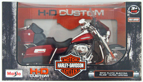 Aoshima Skynet 04446 Harley-Davidson 2013 FLHTK Electra Glide Ultra Limited Red 1/12 Scale Finished Model
