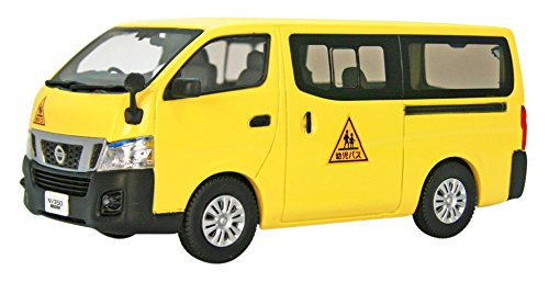 Ebbro 45597 Nissan NV350 Caravan School Bus 2012 Yellow 1/43 Scale