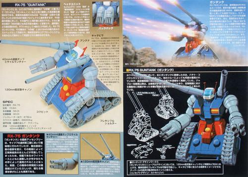 Bandai HGUC 007 Gundam RX-75 GUNTANK 1/144 Scale Kit