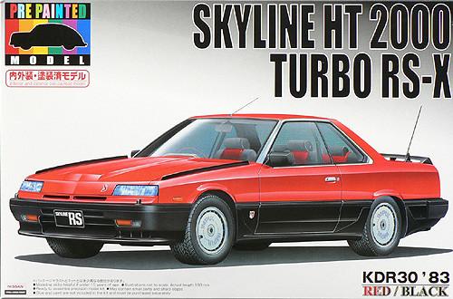 Aoshima 43776 Nissan Skyline KDR30 Red/Black 1/24 Scale Kit (Pre-painted Model)