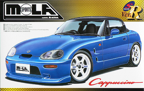 Aoshima 41529 Suzuki Cappuccino MOLA Sports Version 1/24 Scale Kit