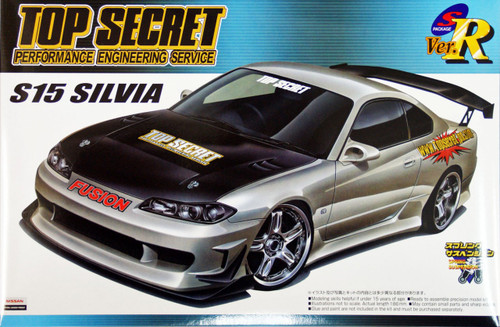 Aoshima 45053 Nissan Silvia (S15) TOP SECRET VERSION 1/24 Scale Kit