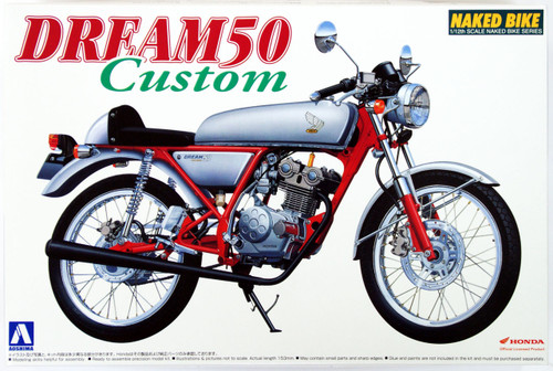 Aoshima Naked Bike 37 45077 Honda Dream 50 Custom 1/12 Scale Kit